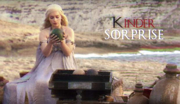 La publicité Kinder Surprise version Game of Thrones